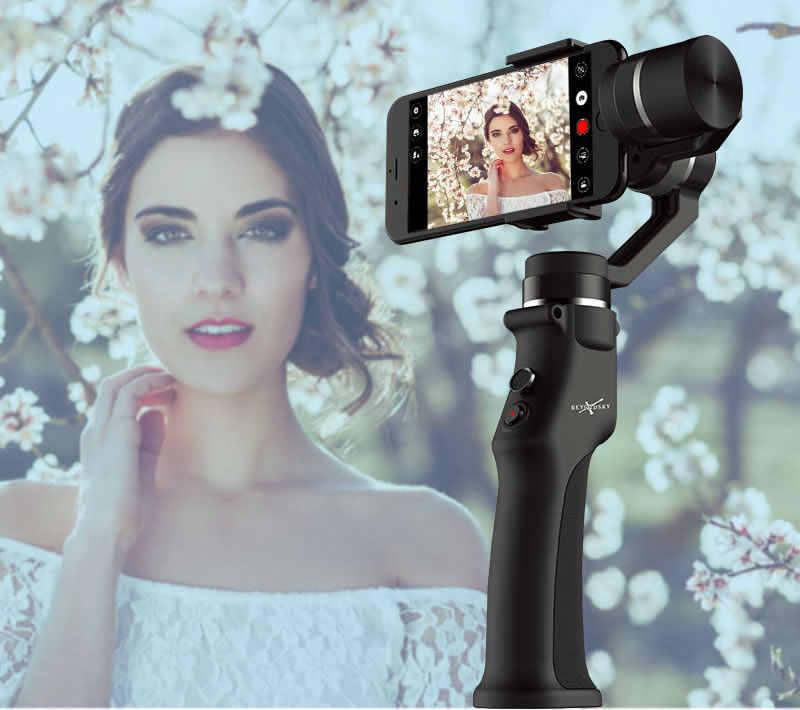 Estabilizador electrónico de vídeo inteligente antivibración para teléfono móvil de tres ejes para Iphone Dslr