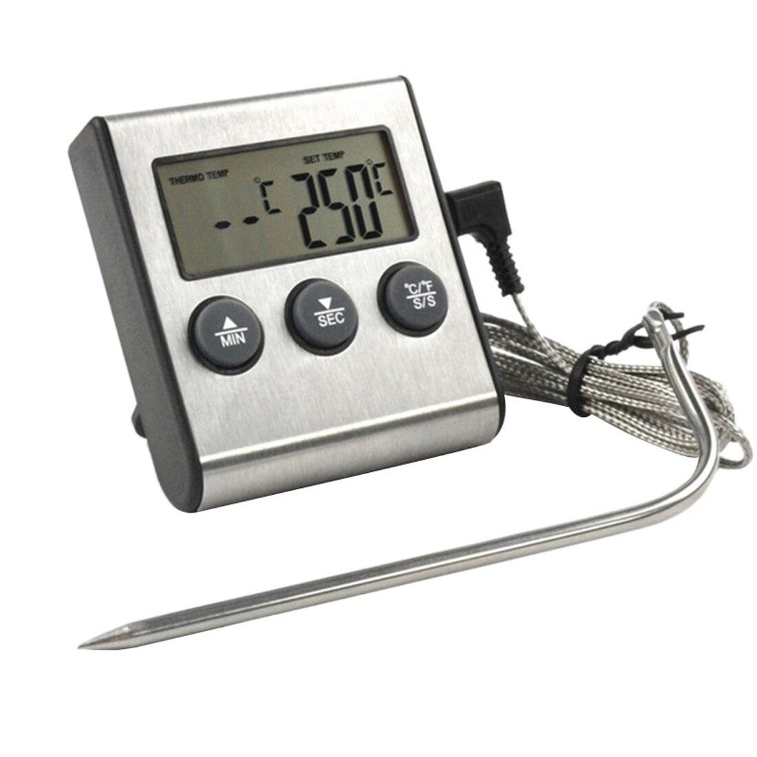 Alta-precisão digital cozinha comida cozinhar forno fumante churrasco grill carne água sonda termômetro sonda termometro digital