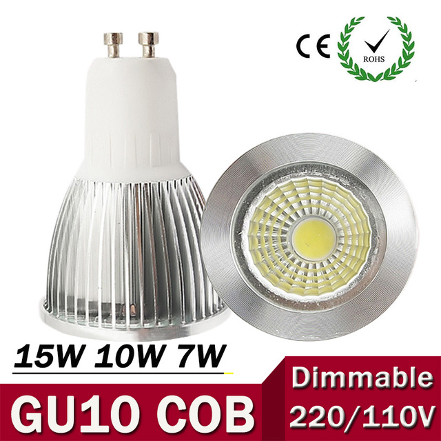 super bright gu10 bulb light dimmable led ceiling light warm white 85 265v 7w 10w 15w gu10 cob. Black Bedroom Furniture Sets. Home Design Ideas
