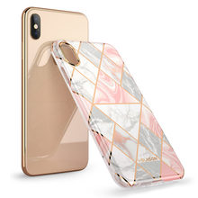 Cover For iPhone X Xs Case i Blason Cosmo Lite Stylish Premium Slim Bumper Protective Marble Back Case with Camera Protection