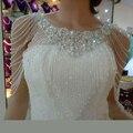 Chic White Wedding Bolero Frisada Cristais vestidos de Casamento de Luxo Acessórios Bling Do Vestido de Noite Branco Bolero Envoltório de Casamento Xale de Noiva