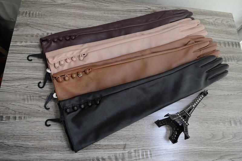 кожаные перчатки женские длинные весенние