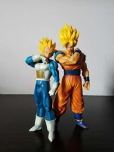 Anime Figure 18-22 CM Dragon Ball Z Resolution Of Soldier Son Goku Vegeta  PVC Action Figure Toy Model Collectibles