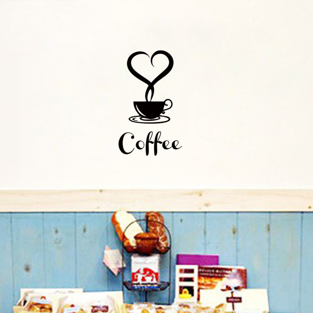 Aliexpress Buy Coffee Shop Restaurant Wall Decor Decals Home