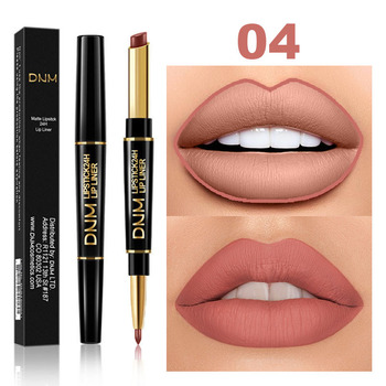 12 kolorów długotrwała kredka do ust matowa szminka podwójna główka kredka do ust wodoodporna nawilżająca makijaż kosmetyki konturowe TSLM2 tanie i dobre opinie ELECOOL W pełnym rozmiarze CHINA Lip liner Lip Liner+Lipstick Łatwe do noszenia Naturalne Inne Pożywne