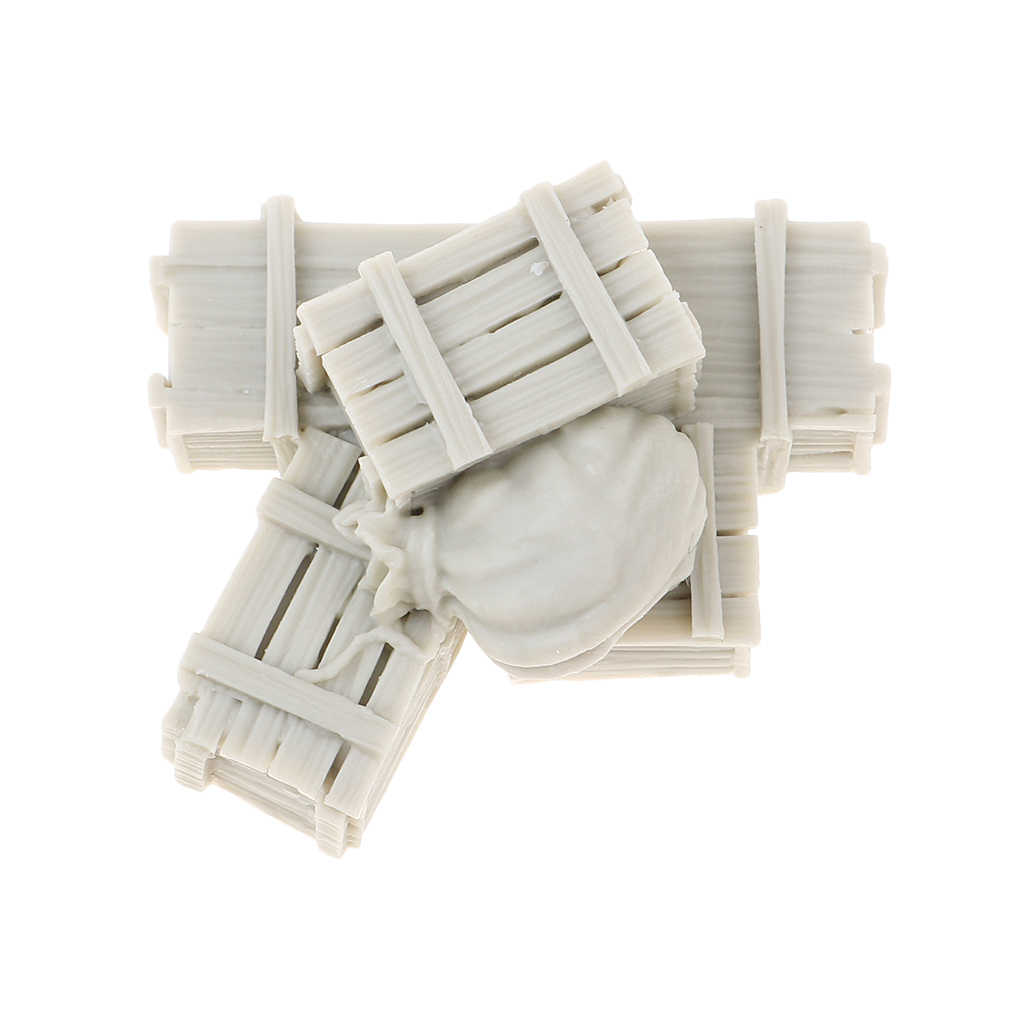 1/35 żywica figurka żołnierza scenariusz zestaw akcesoriów zabawki z pudełkami i torby Model