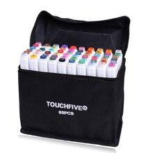 Маркер TouchFive 30/40/60/80/168 Цвет кисть ручки алкогольных жирной чернила на водной основе художественный маркер для манга двойной головой маркеры для эскизов