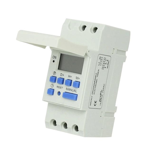 Free shipping CE DIN RAIL DIGITAL 16 sets PROGRAMMABLE TIMER SWITCH AC 220V 110V DC 12V
