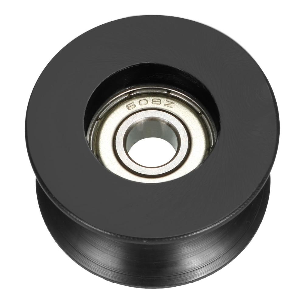 uxcell 2pcs 2.5mm Deep Metal V Groove Guide Bearing Pulley Rail Ball Wheel 6x30x13mm