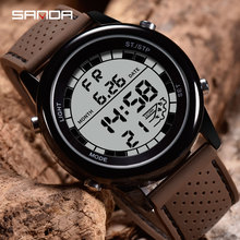 Sanda Sport Watch Digital Men Watch Alarm Chronograph Countd