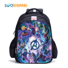 hot deal buy luobiwang avengers children school bags infinity war backpack for teenagers popular movie school bags for boys sac a dos enfant