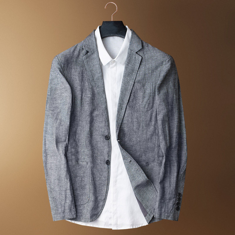 Suit Jacket Linen Plus-Size Single-Breasted Casual Fashion Cotton Summer Thin Tide MLXL2XL3XL4XL