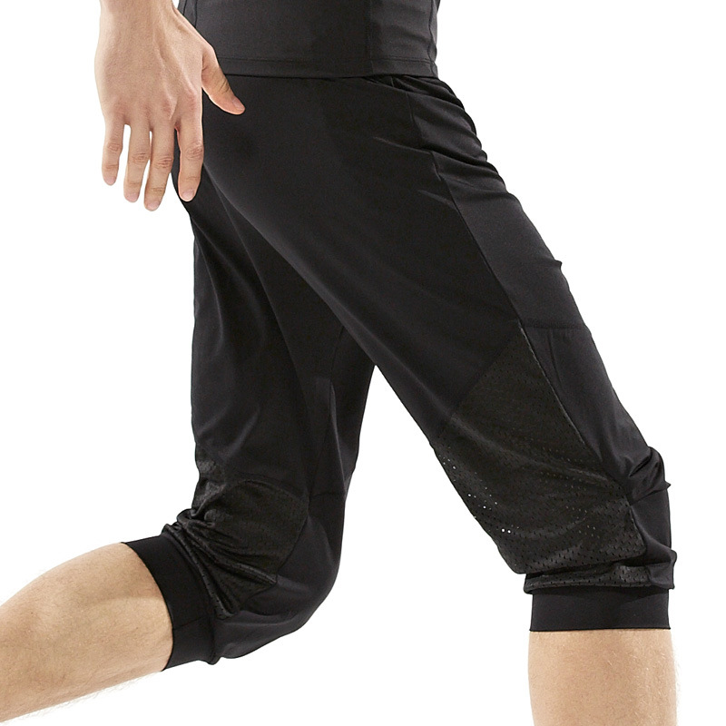New Brand Summer Men Loose <font><b>Yoga</b></font> Gym Pants Quick Dry Elastic Breathable Running Training Fitness Sport Cropped Trousers M-XXL