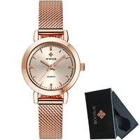Luxury Brand WWOOR Women Watches Lady Fashion Dress Business Quartz Watch Women Steel Mesh Bracelet Wristwatch