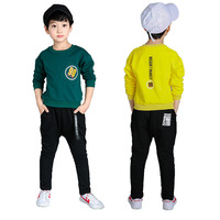 2018 Teenage Clothing Set Kids Boys Clothing Sets Long Sleeve Letter T Shirt Pants Autumn Spring