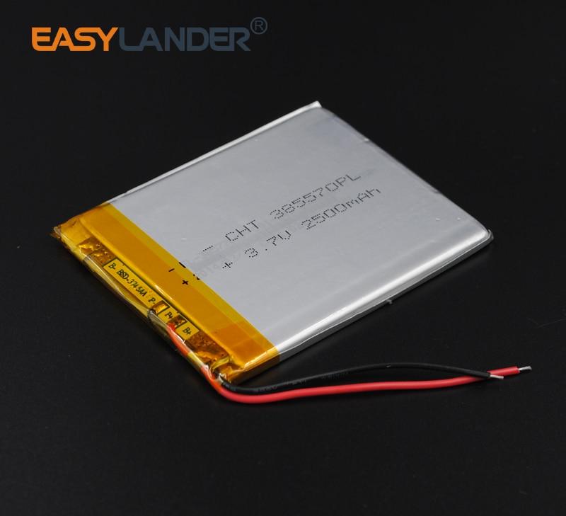 385570 3 7V 2500mAh Polymer Li ion Battery For mobile electronic part DIY Speaker Flash lighting