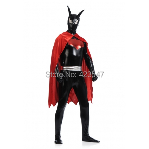 Black and Red Batman Beyond Costume Batsuit Cosplay Halloween party Suit free shipping-in Anime Costumes from Novelty u0026 Special Use on Aliexpress.com ...  sc 1 st  AliExpress.com & Black and Red Batman Beyond Costume Batsuit Cosplay Halloween party ...