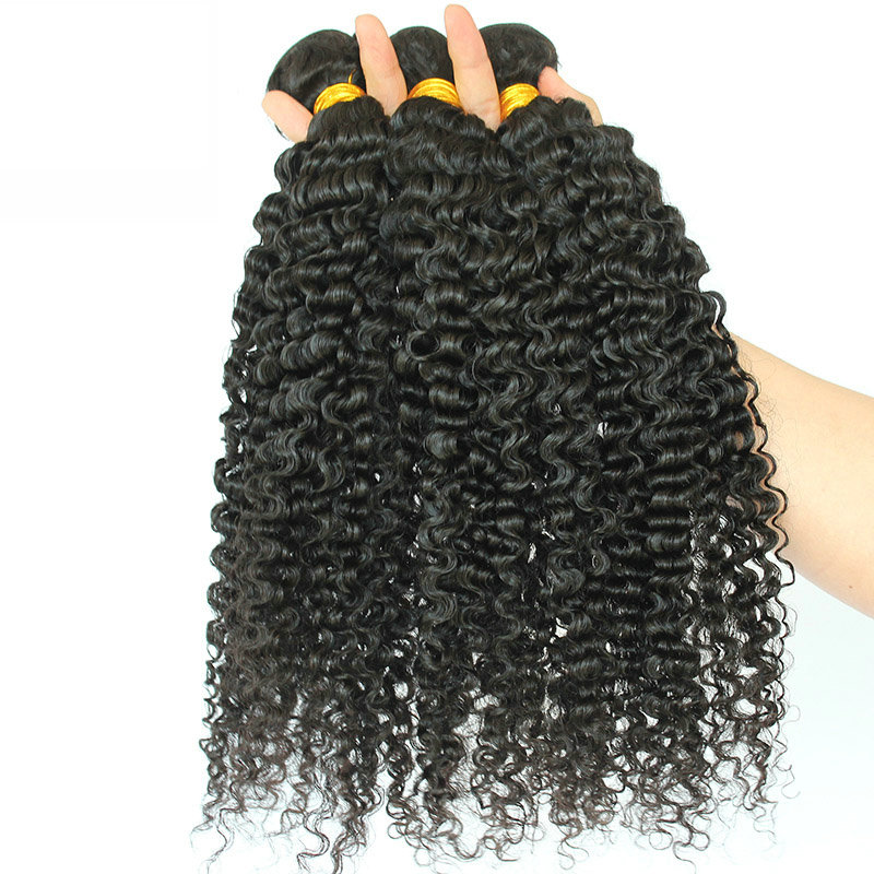 3B-3C-Kinky-Curly-Brazilian-Hair-Weave-Bundles-Natural-Black-10-28inches-Remy-Human-Hair-Extensions