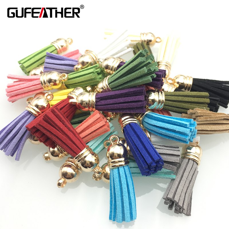 GUFEATHER L01/3.8CM /jewelry accessories/Diy tassel/tassels for jewelry diy/embellishments/Faux Suede 10 Color 20pcs