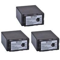 3Pcs 6000mAh High Capacity VW VBG6 VW VBG6 VWVBG6 Rechargeable Camera Batteries for Panasonic VDR 210 220 230 AG AC160A, AG AC7