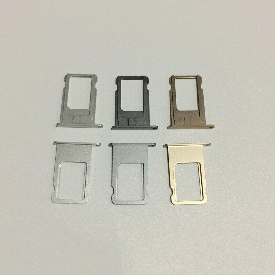 bilder für 50 stücke original neue gold silber grau nano sim einbauschlitz-behälter-halter halterung für iphone 6 plus ersatzteile