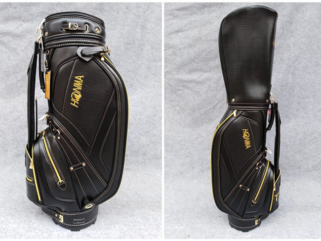 Brand New Professional Honma Golf Stand Bag Black Brown Colors Honma Standard Golf Clubs Leather Bag