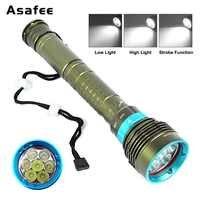 Underwater Diving Light 200m Ultra Bright Cree 7x XM T6 L2 LED Scuba Diving Flashlight Lamp Torch 3 Modes 18650 26650