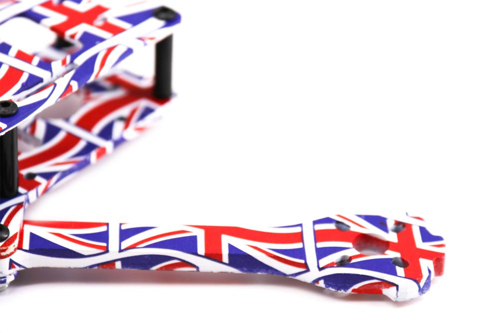 Image 4 - TCMM 5 Inch Drone Frame X220HV The Union Jack Printed Frame Kit Wheelbase 220mm Carbon Fiber For FPV Racing Drone-in Parts & Accessories from Toys & Hobbies