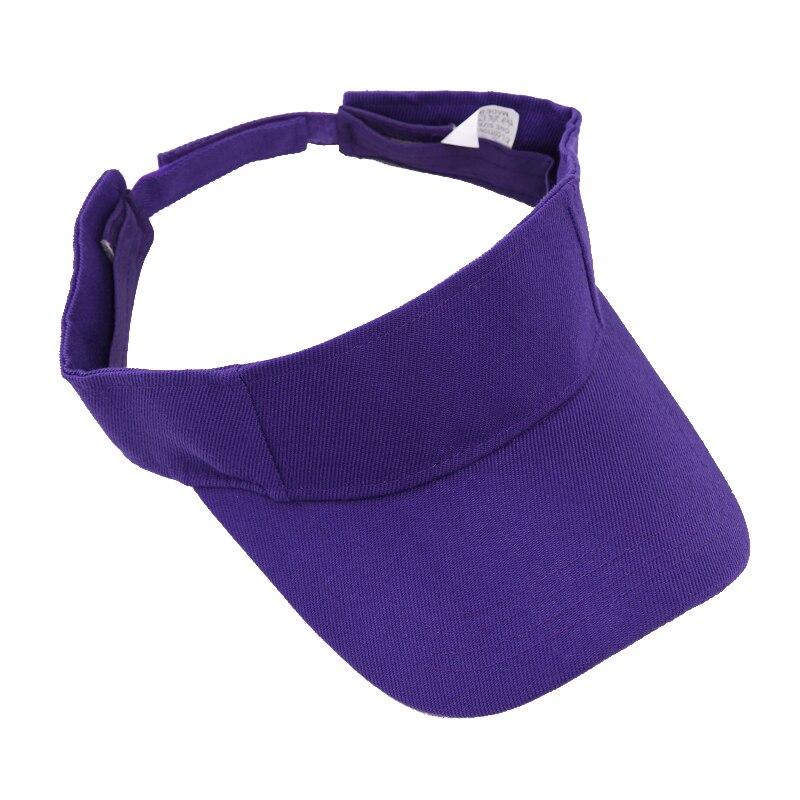 28db5a4f4b8 Unisex Empty Top Visor Cap Women Sunscreen Hats Man Cotton Snapback Cap  Adjustable For Running Tennis Golf Tennis Outdoor sports