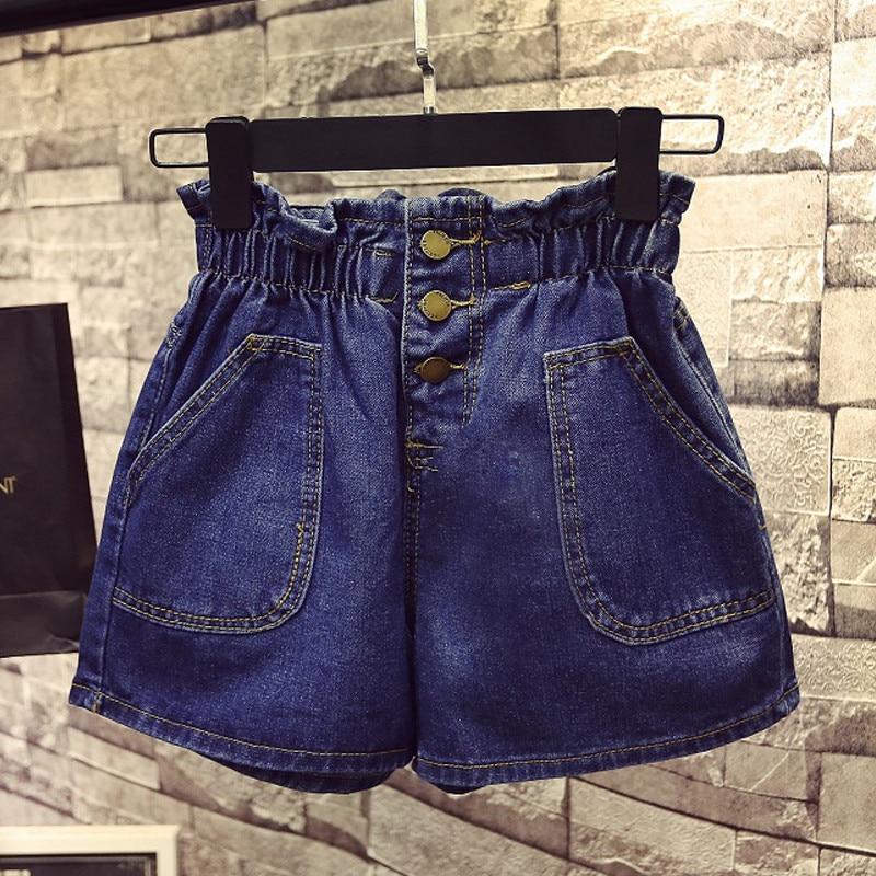 Plus Size 4XL 5XL Summer Jeans   Shorts   Women 200 Pounds Fat MM High Waist Denim   Shorts   Loose Hot Sexy Beach Wide Leg   Shorts   C4356
