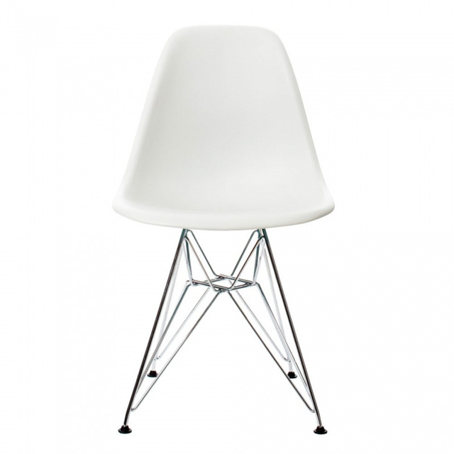 Chair Steel Legs Stool Ghana 6 Pieces For A Lot Pp Casual Dining Chairs Modern Creative Color White