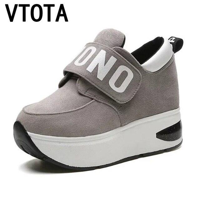 Vtota Sepatu Hak Tinggi Sepatu Wanita Sneakers Wedges Musim Gugur