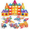 90 unids/lote mini modelos y construcción de ladrillos de plástico de juguete magnético bloques de construcción magnética niños juguete enlighten del bloque magnético de diseño