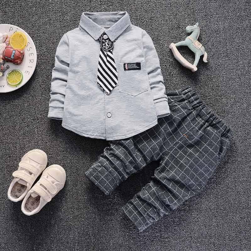 5145687808238 Detail Feedback Questions about BibiCola boys clothing set 2018 spring  formal gentleman 2pcs suit for kids clothess bebe cotton set children plaid  tracksuit ...