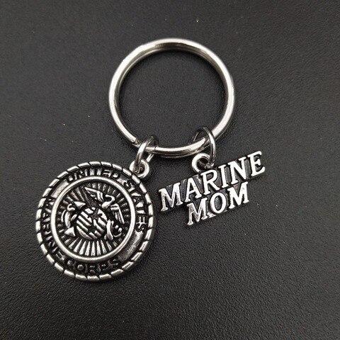 Брелок из нержавеющей стали с подвеской «мама» морской пехоты
