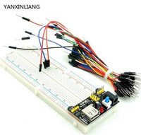 1pcs MB102 830 Point Solderless PCB Breadboard With 65pcs Jump Cable Wires And Power Starter Kit