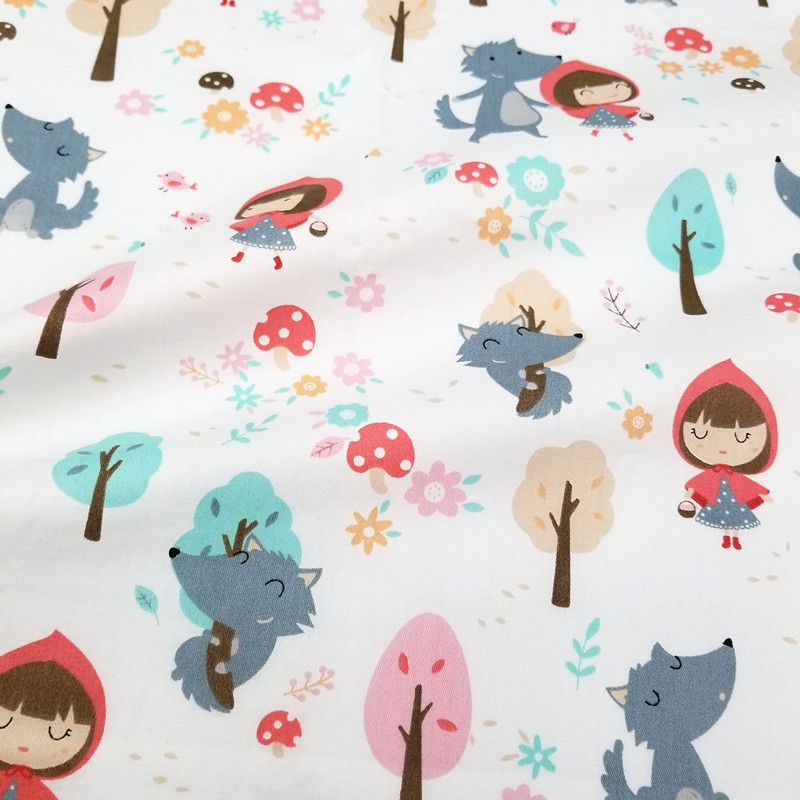 100 Cotton Twill Fabric Printed Girl Patterns Cotton Patchwork Cloth For Sewing Quilting Fat Quarters Material 50x160cm in Fabric from Home Garden