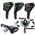 3 Cores Car Kit MP3 music Player Transmissor FM Sem Fio Radio Modulador Com USB SD MMC + Controle Remoto FreeShipping QP0026-30