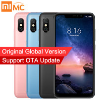 "En Stock versión Global Xiaomi Redmi Note 6 Pro 3 GB 32 GB teléfono inteligente Snapdragon 636 Octa Core 6,26"" 19:9 Pantalla Completa 20MP Cámara(China)"