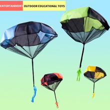 1PCS Hand Throwing Parachute soldier Toy Radom color Kids Outdoor Games Children Educational mini Toys Soldier Outdoor Sports