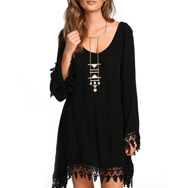 Summer Plus Size Dresses For Women 3xl 4xl 5xl 6xl Vintage Long Sleeve Party Dresses Sexy Tassel Black Vestidos Robe Femme