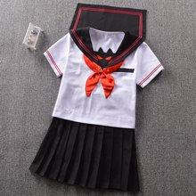 Japanese High-end sailor suit Summer Kwan West lapel little devil Short sleeve suit
