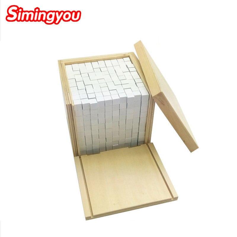 Simingyou Montessori éducatif en bois jouet Volume boîte avec 1000 Cubes enfants jouets Brinquedos C20-Q-65 livraison directe