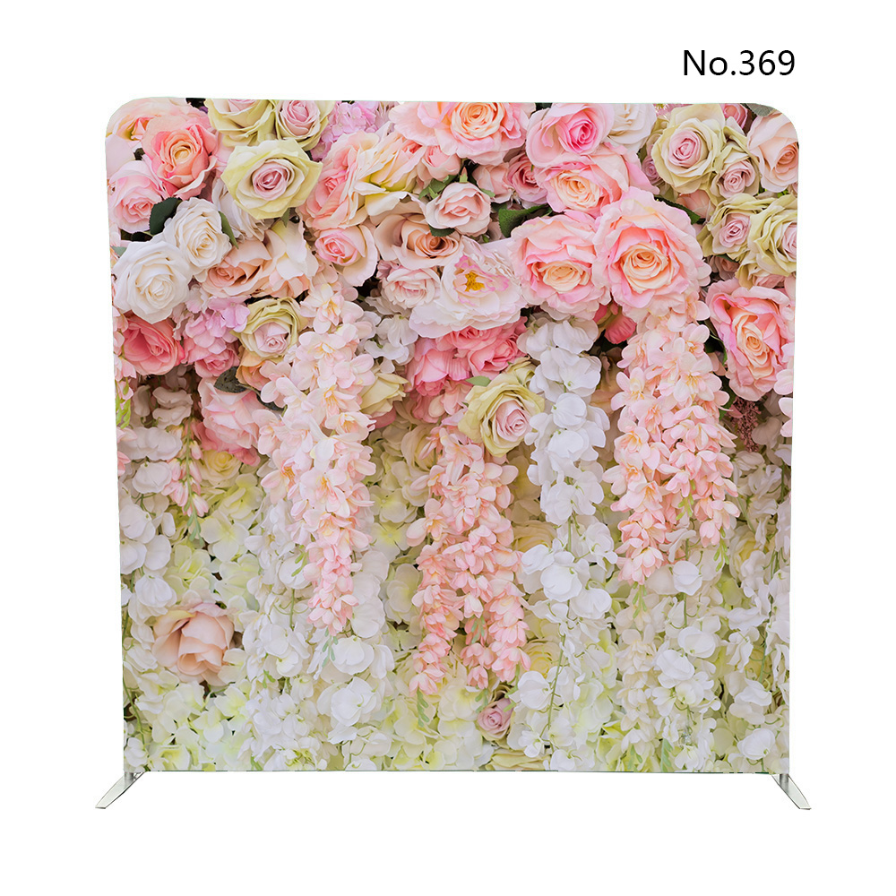 No 369 Rose Wall Wedding Flower Background Pillowcase Backdrop By