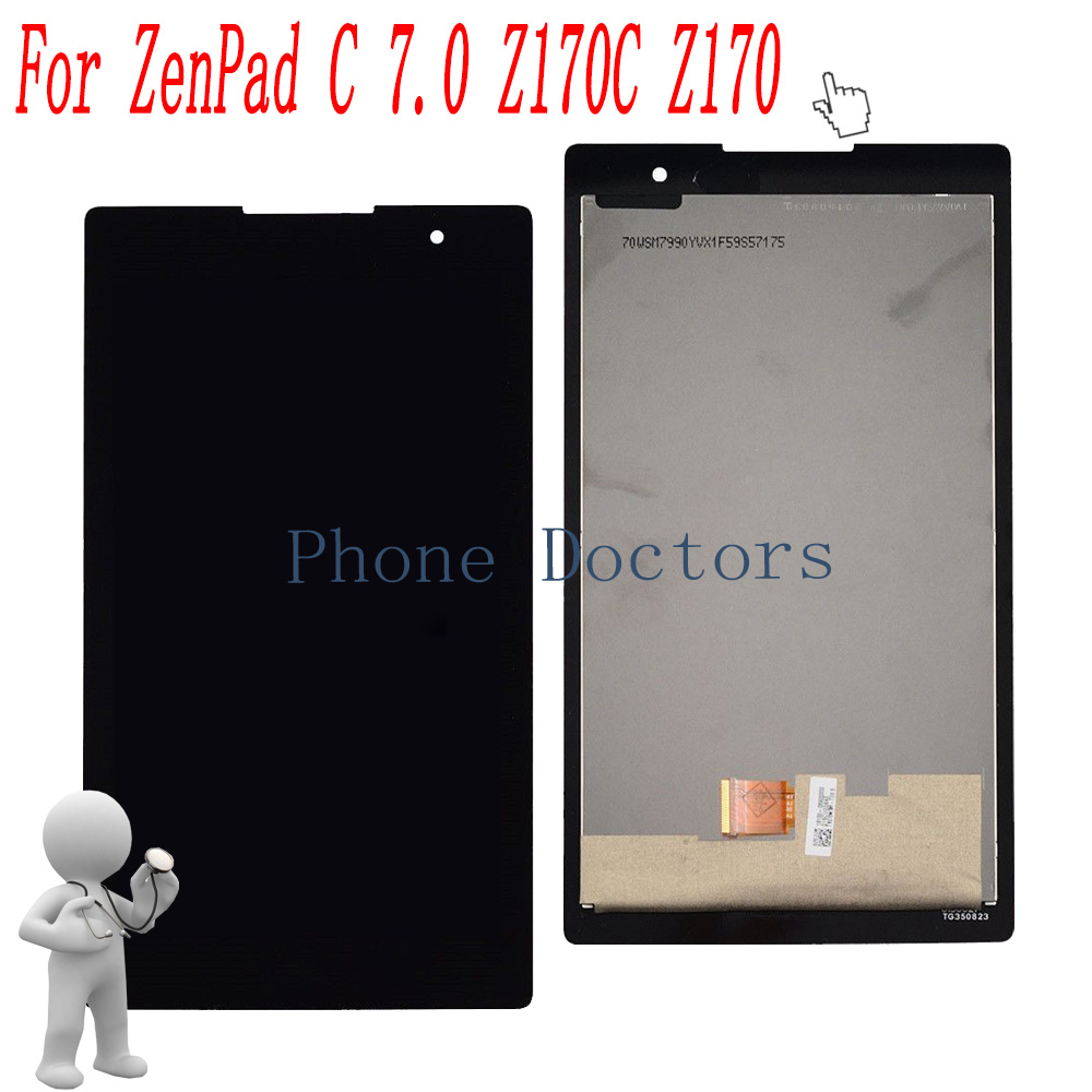 7.0 inch Full LCD DIsplay + Touch Screen Digitizer Assembly For Asus ZenPad C 7.0 Z170 Z170C Z170CG P01Y z170 high quality soft tpu rubber cover semi transparent back case for asus zenpad c 7 0 z170 z170c z170mg z170cg silicone cover