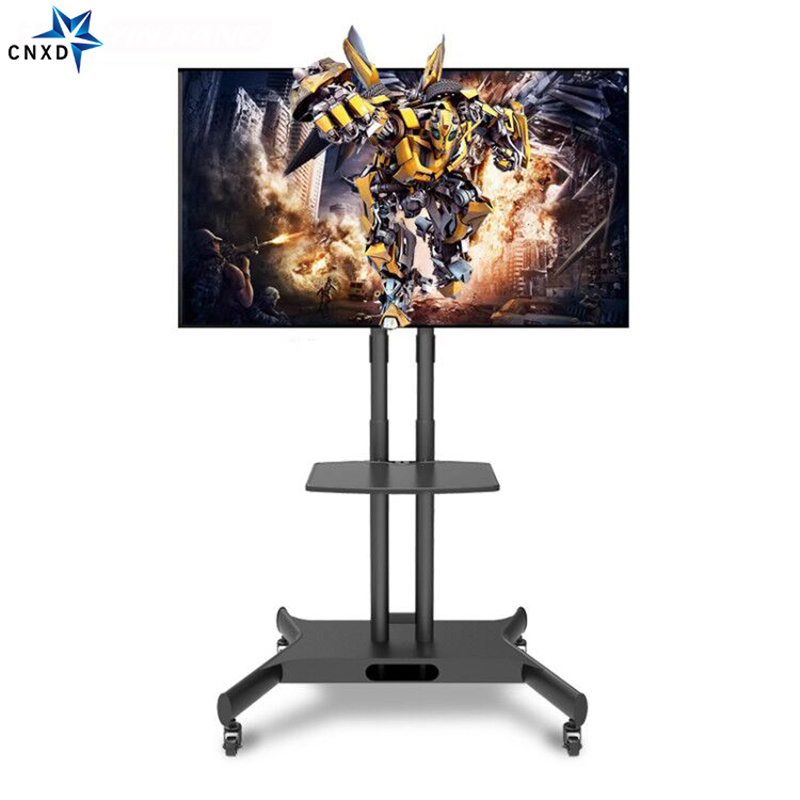 Mobile TV Display Floor Stand TV Cart for 32-65 Rotate TV Trolley Floor Stand with Audio Shelf and Locking Wheels