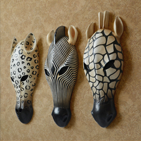 Wall decoration Zebar Wall Mural Animal Head Resin Pendant Resin Wall Hanging Ornaments Home Accessories, Best Gift