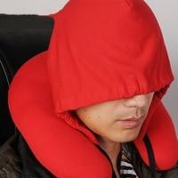 Hooded Sleeping Pillow Decorative Pillows Solid U Shape Cushions Neck Pillow Home Textile Car Seat Cushion