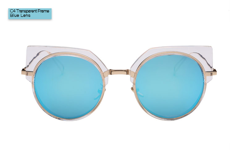 e364e123f TESIA Brand Round Sunglasses Women Mercury Coating Cat Eye Mirrored Sun  Glasses Female Designer Lunette T1010-in Sunglasses from Apparel  Accessories on ...