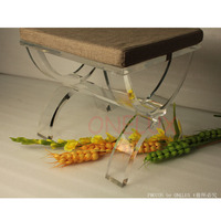 Cross Legged Acrylic Lucite vanity stool ottomans bench perfect as a stool or a side tea table